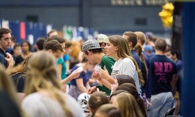 Notre Dame's annual Student Activities Night is a great place to learn about the more than 300 student groups on campus