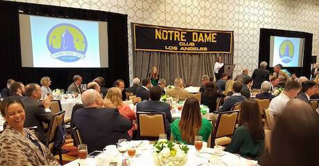 The Notre Dame Club of Los Angeles hosts a Universal Notre Dame (UND) Celebration event