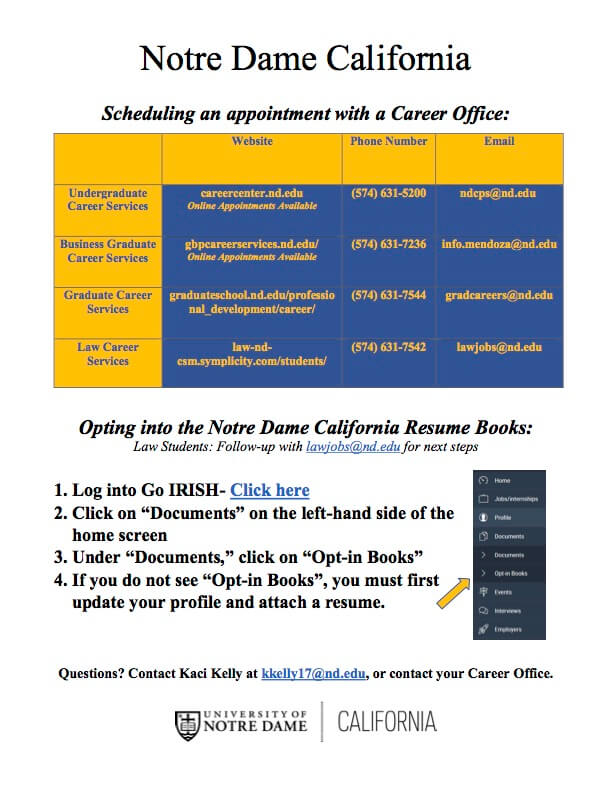 Notre Dame California Career Steps Pg2